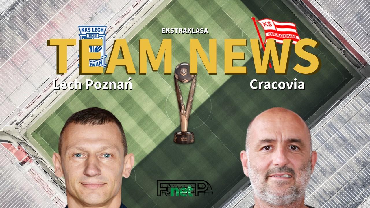 Ekstraklasa News: Lech Poznań vs Cracovia Confirmed Line-ups