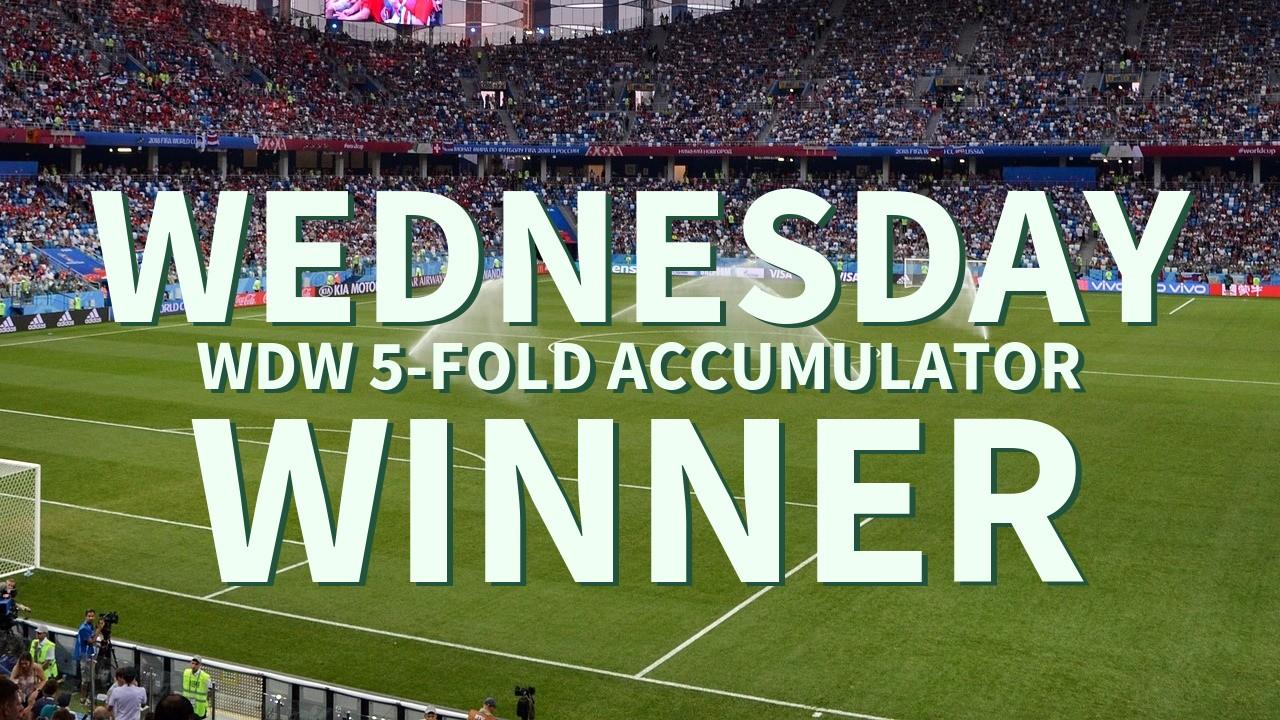 Wednesday 4/1 WDW 5-Fold Accumulator Success!