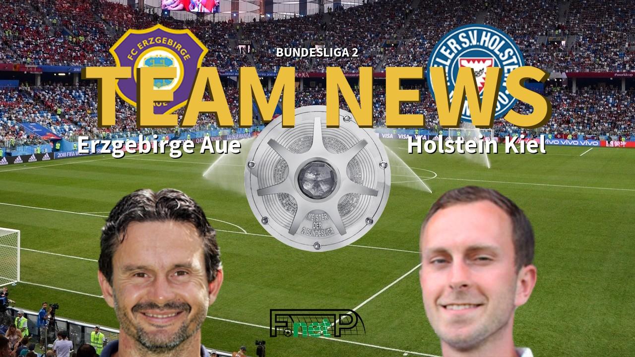 Bundesliga 2 News Erzgebirge Aue Vs Holstein Kiel Confirmed Line Ups