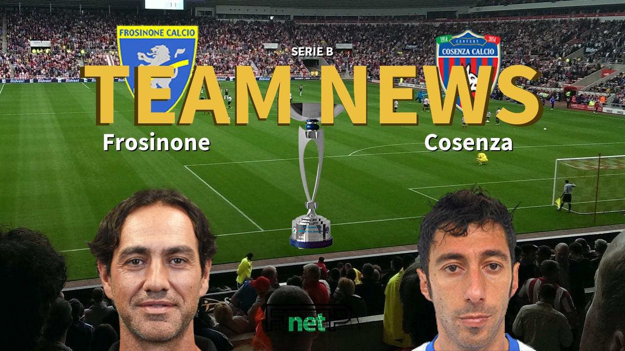 Serie B News: Frosinone vs Cosenza Confirmed Line-ups