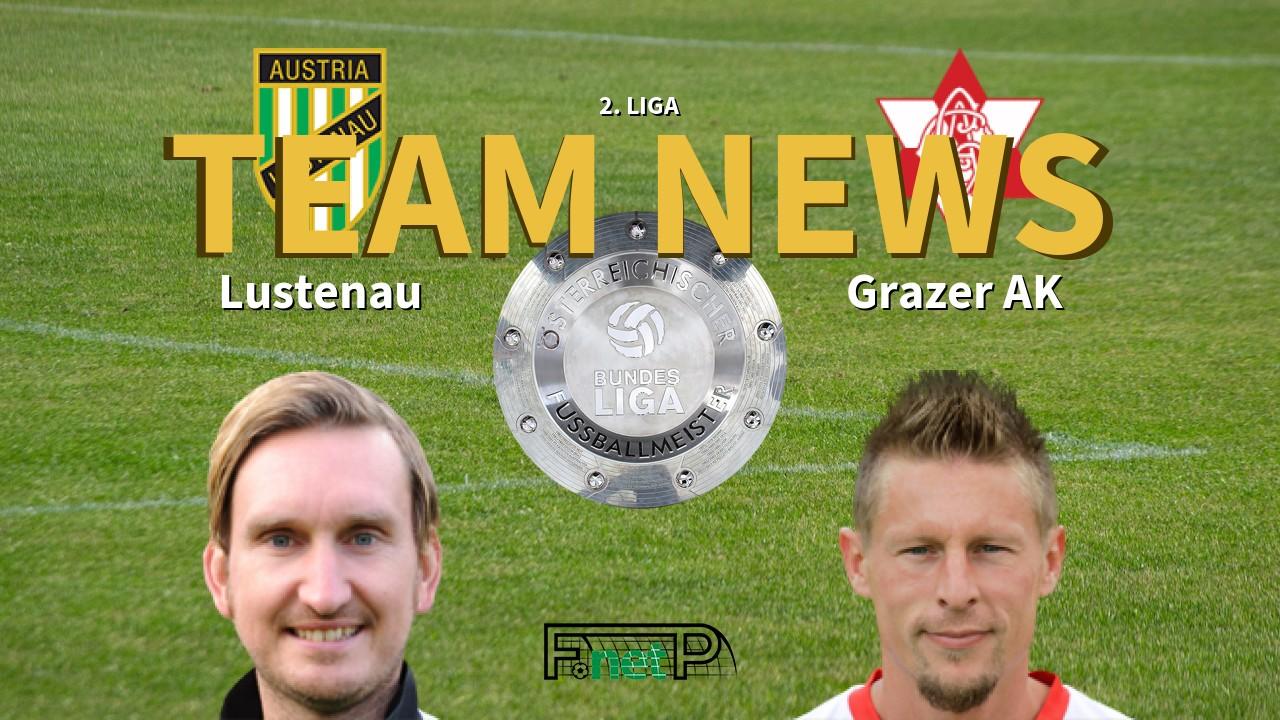 2 Liga News Sc Austria Lustenau Vs Grazer Ak Confirmed Line Ups