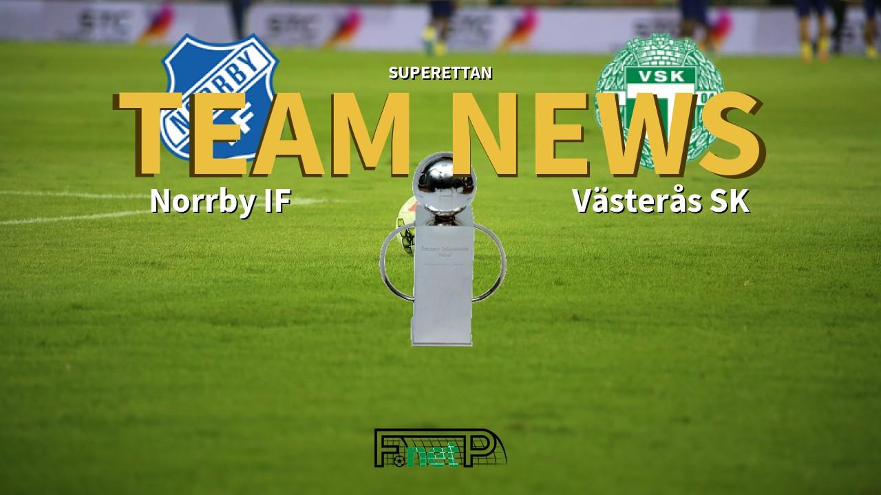 Superettan News: Norrby IF vs Västerås SK Confirmed Line-ups