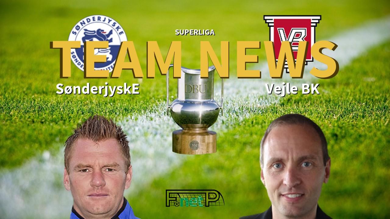 Superliga News: SønderjyskE vs Vejle BK Confirmed Line-ups